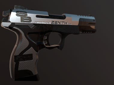 GUN- 3D Weapon Modeling and Texturing