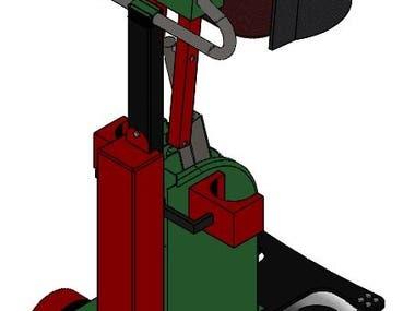 CAD model of an Assistive Robot for Paraplegic Patients