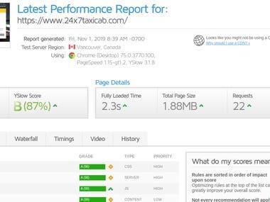Website Speed Optimisation-http://24x7taxicab.com/