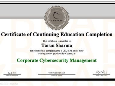 Corporate Cybersecurity Management