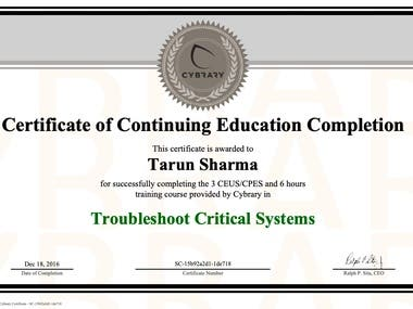Troubleshoot Critical Systems