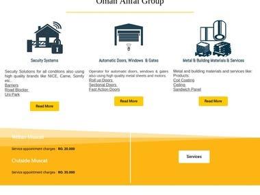 Website Designed for Anfal Oman