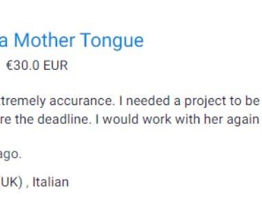 Italian to English