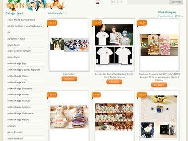 Manga Anime Webshop E-Commerce