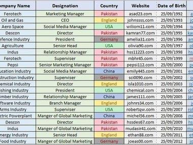 data entry , lead generation