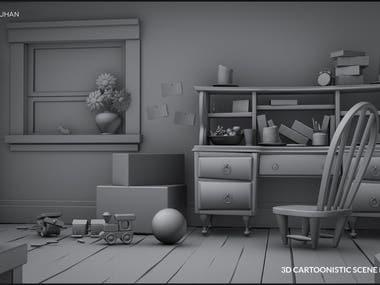 3D Cartoonistic Model
