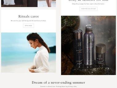 Cosmetics Website Creation
