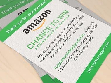 Amazon Thank you Note Design
