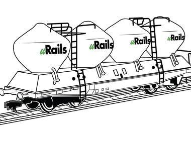9 drawings of freight wagons
