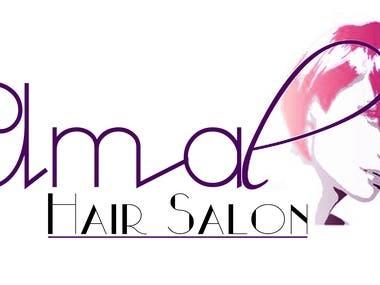 Amal Hair Salon Logo
