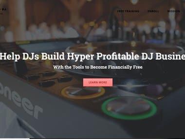 Wedding dj consulting- Wordpress site