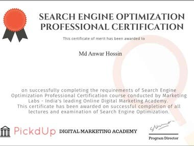 SEO Certification!