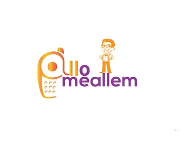 "Logo design in my app ""Allomeallem"