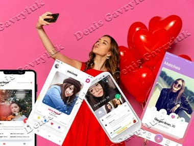 Dating Food delivery app UI design and development