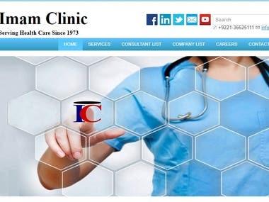 Website Development for Imam Clinic