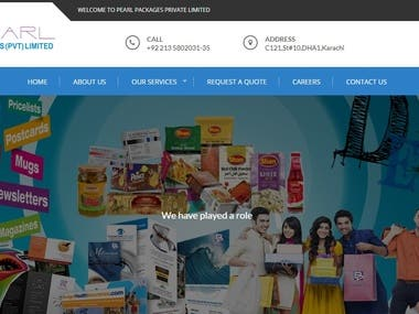 Website Development for Pearl Packages Pvt. Ltd.