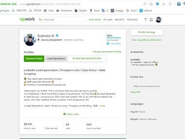 Top Rated Freelancer at UpWork