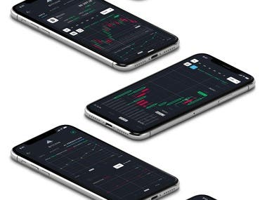Cryptocurrency App Mockup