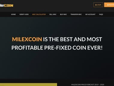 Cryptocurrency with website