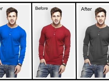 T-shirt Color Change