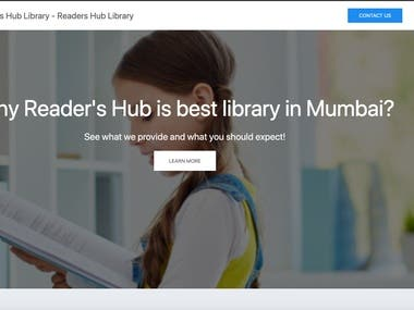 Readers Hub Library Website