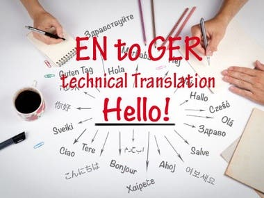 Technical Translation | English to German