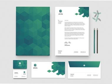 Business cards with letterhead