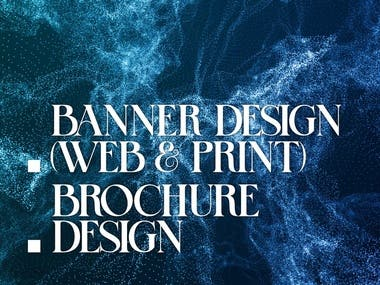 Banner and Brochure design