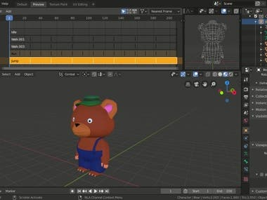 Modeling 3D Characters in Low Poly