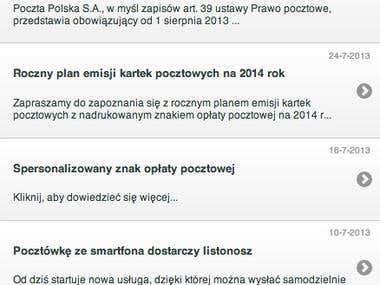 Polish Post mobile App