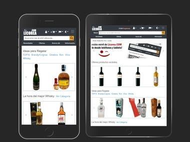 Diseño responsive OsCommerce tienda Licorea.com