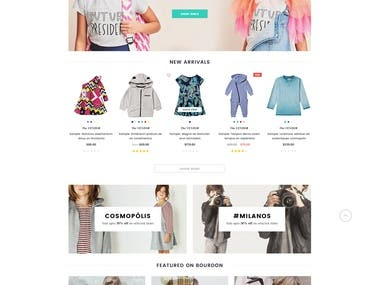 Cloth Ordering (WordPress)