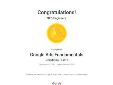 Google Ad Certification