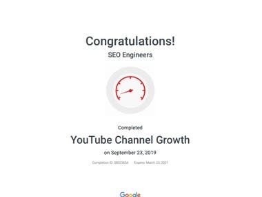 YouTube Google Certified