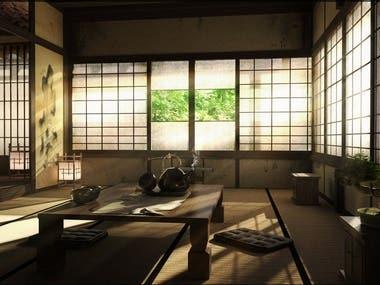 Japanese house 3D interior Model