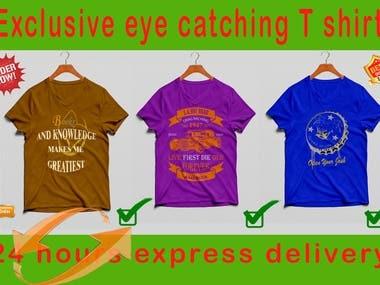 Amazing and eye catching t shirt design.