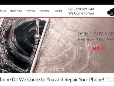 Phone Repairing Company's Website Development