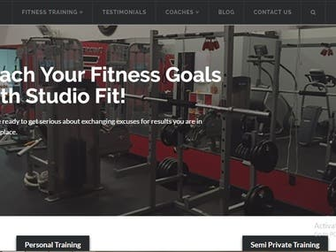 Fitness Center Website Design and SEO