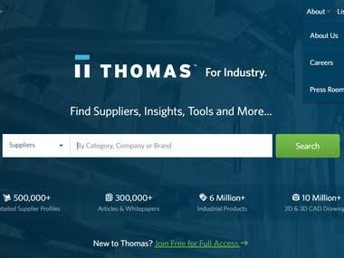 Site Design & Data Entry of USA Manufacturer