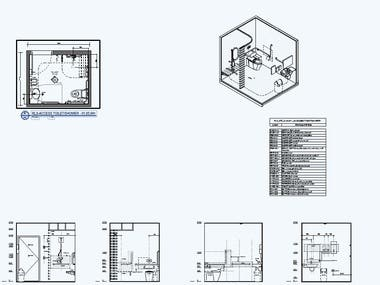 ACCESS TOILET ROOM LAYOUT SHEET