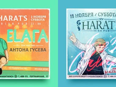 Illustrations, posters