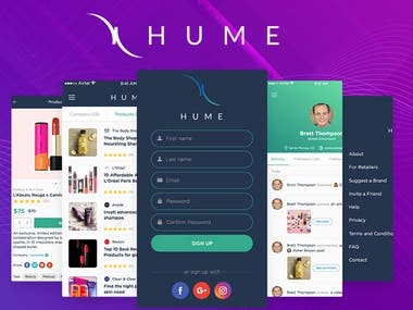Hume E commerce app