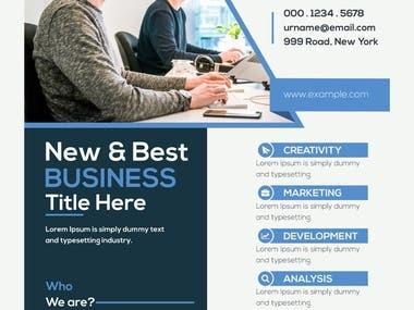 Flyer design for business