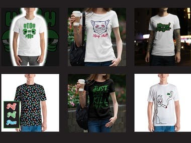 Thematic t-shirt designs