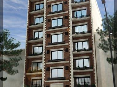 Apartment facade designing