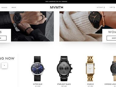 Shopify Website - Premium Watches