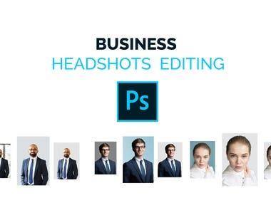 Business Headshot editing