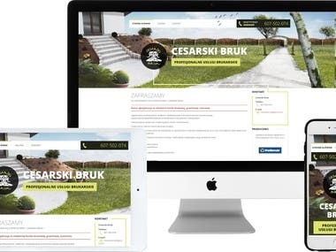 Page with WordPress CMS