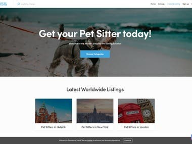 Online shop for buying and selling pets.