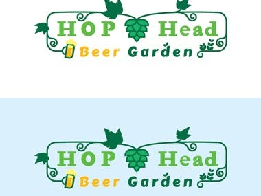 Logo for Hop head beer garden